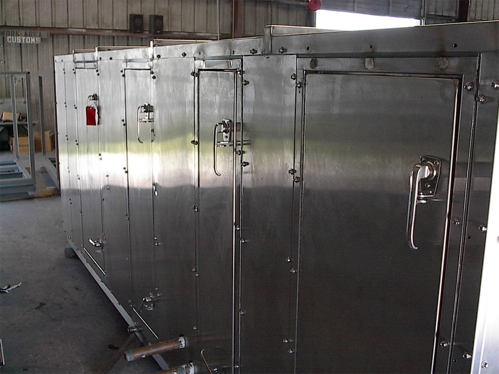 US Military: Custom stainless steel CBR air handling unit