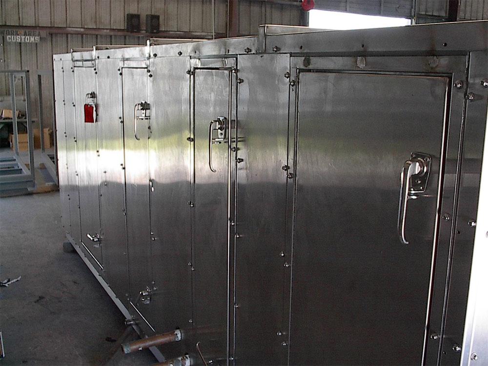 US Military: Custom stainless steel CBR air handling unit
